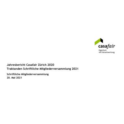 Schriftliche Mitgliederversammlung 2021 der Sektion Zürich